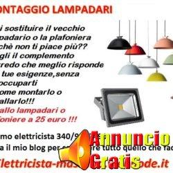 montaggio lampadari massimo
