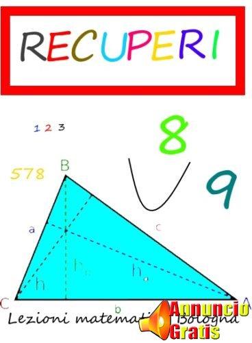 Recuperi lezioni matematica bologna
