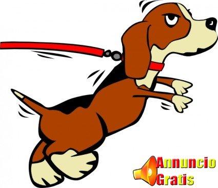 dog-on-leash-cartoon-clip-art-11941.jpg foto cane che tira